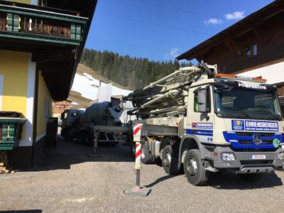 Frühlingsbaustelle in der Die Bergquelle Flachau