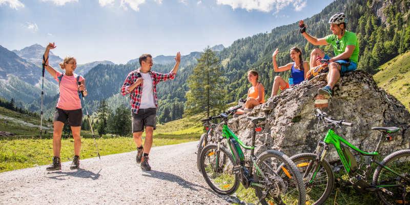 Hiking Holiday in Flachau in the B&B Hotel Die Bergquelle in Salzburg Austria